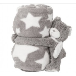 Couverture Plaid-Doudou Lapin Toudoux
