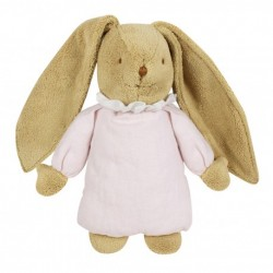 Musical rabbit - Powder pink linen