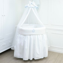 Cradle / evolutive crib - Caesar blue - by Cocon d'Amour
