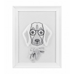 Wall frame - Grey dog