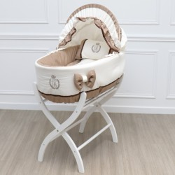 Bassinet - Ivory & Macaroon - by Cocon d'Amour