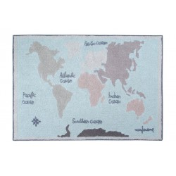 Washable carpet - Vintage map