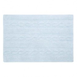 Washable Carpet - Braids Soft Blue - Small