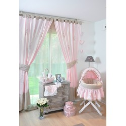 Bedroom curtains tailored by Cocon d'Amour
