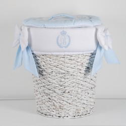 Laundry basket - Ceasar - Stripped taupe
