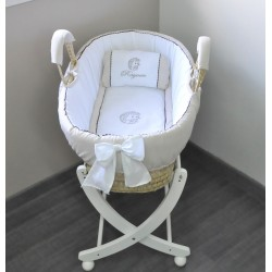 Beige palm bassinet - My little hedgehog - by Cocon d'Amour