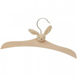 Wooden hanger - Beige Rabbit