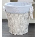 Sky blue and white toy basket