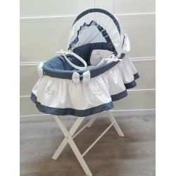 Bassinet - BB embroidery - by Cocon d'Amour