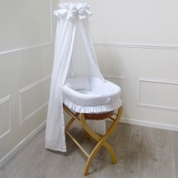 Bassinet with sky customizable Medallion