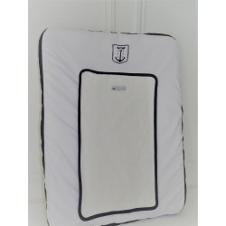 Matelas à Langer Gris Perle & Blanc - Collection Pharell