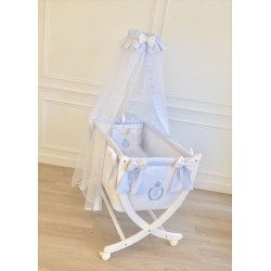 Rectangular cradle - Caesar sky blue - by Cocon d'Amour