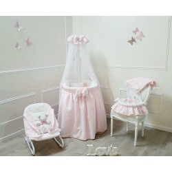 Canopy cradle large model - Petit coeur - by Cocon d'Amour