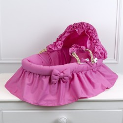 Bassinet for doll fushia pink