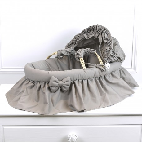 Bassinet for doll color taupe