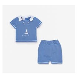 Baby pyjama - Blue Sailboat - Cocon d'Amour