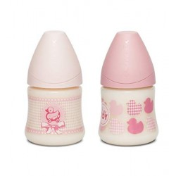 Baby bottle - Physio Silicone - Pink