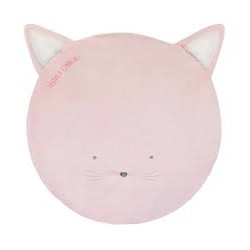 Tapis bébé - Chat rose