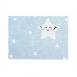 Washable carpet - Rectangular blue star