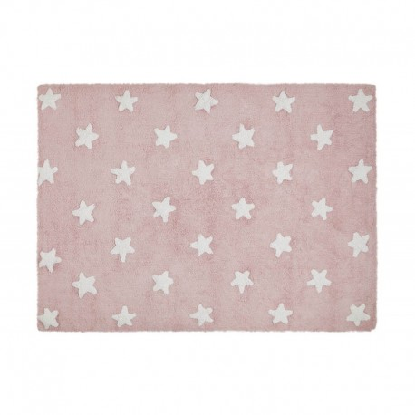 Washable carpet - Pink star