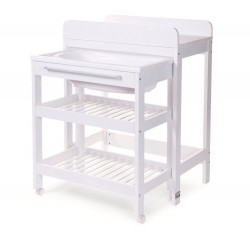 Changing table with its bath compartment