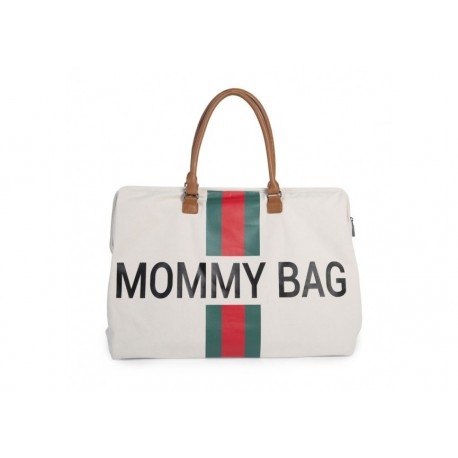 Mommy bag -Black and gold bands