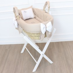 Taupe palm bassinet - BB - by Cocon d'Amour